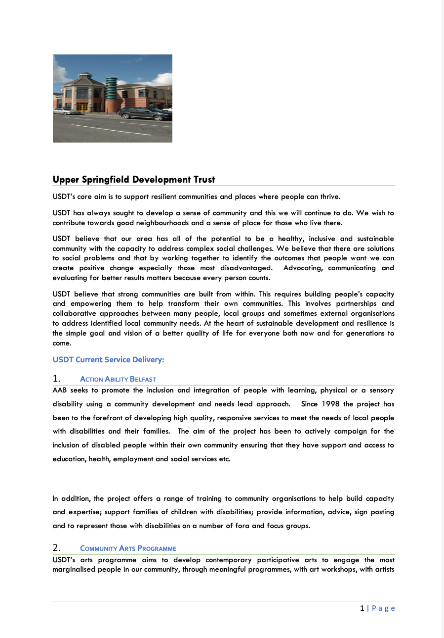 Upper Springfield Development Trust
